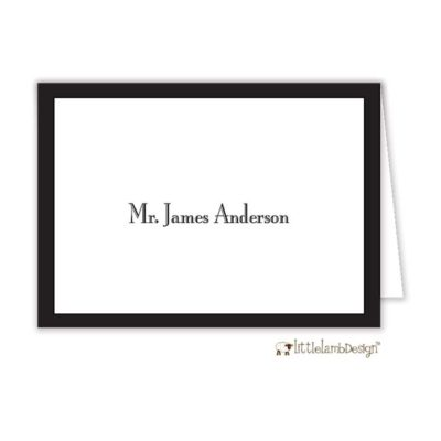 Black Svelte Place Card