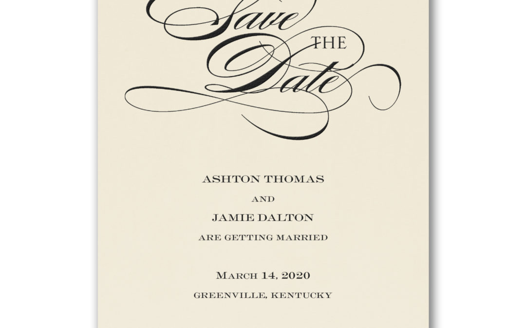 Be Sure to Save the Date