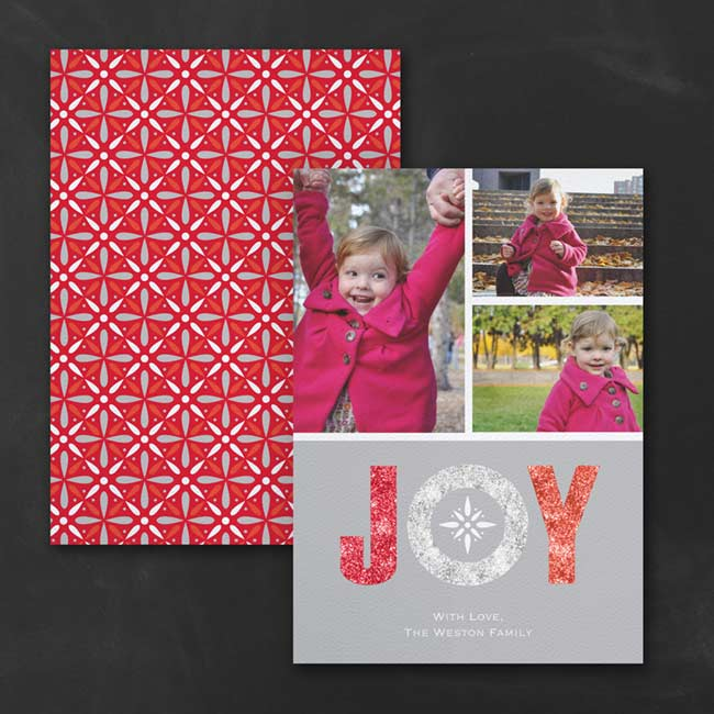 Joy – Photo Holiday Card