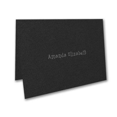 Thank You Note – Black Shimmer