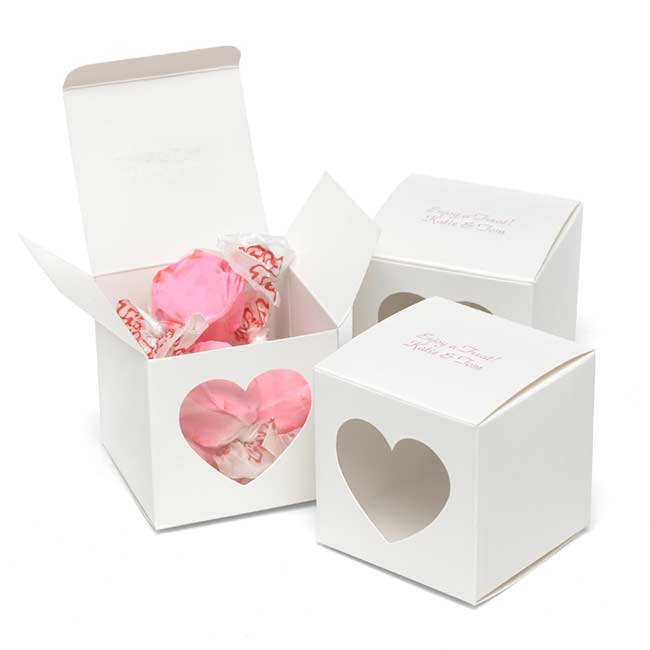 Heart Window Favor Box