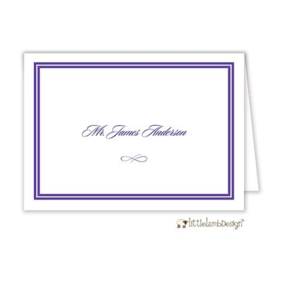 Double Line Border Place Card