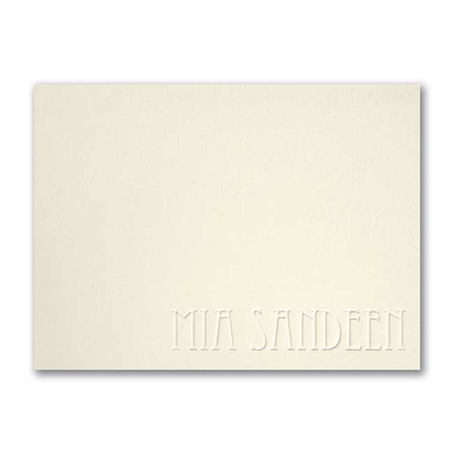 Simply Perfect – Large Note Card