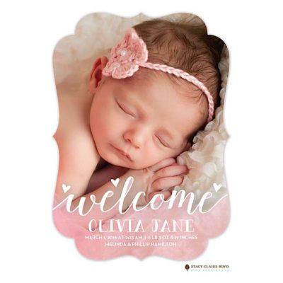 Loving Photo Birth Announcement