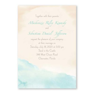 Watercolor Beach Invitation