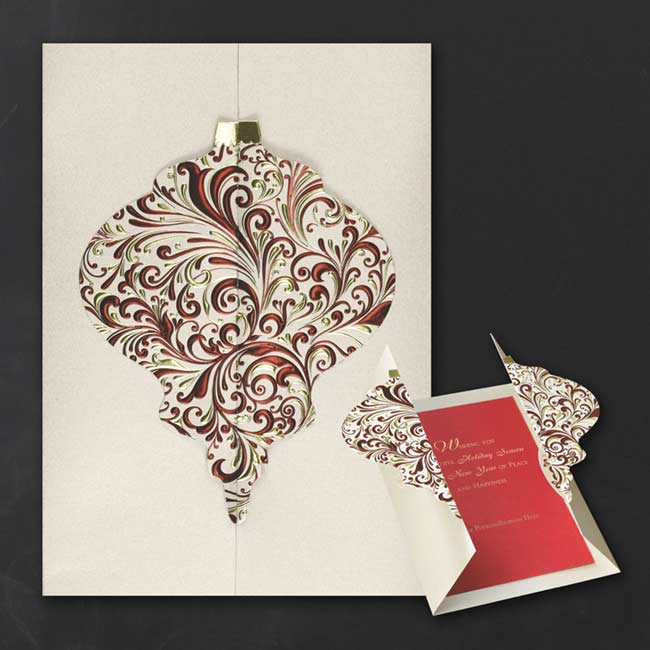 Ornate Ornament Holiday Card