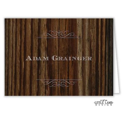 Cherry Wood Folded Place Card
