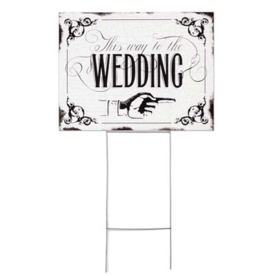 Vintage Wedding Sign