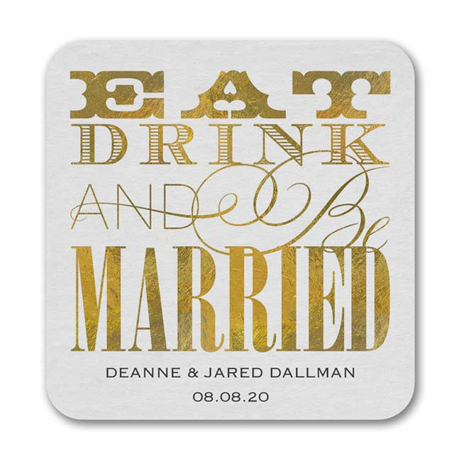 Eat Drink Married – Coaster